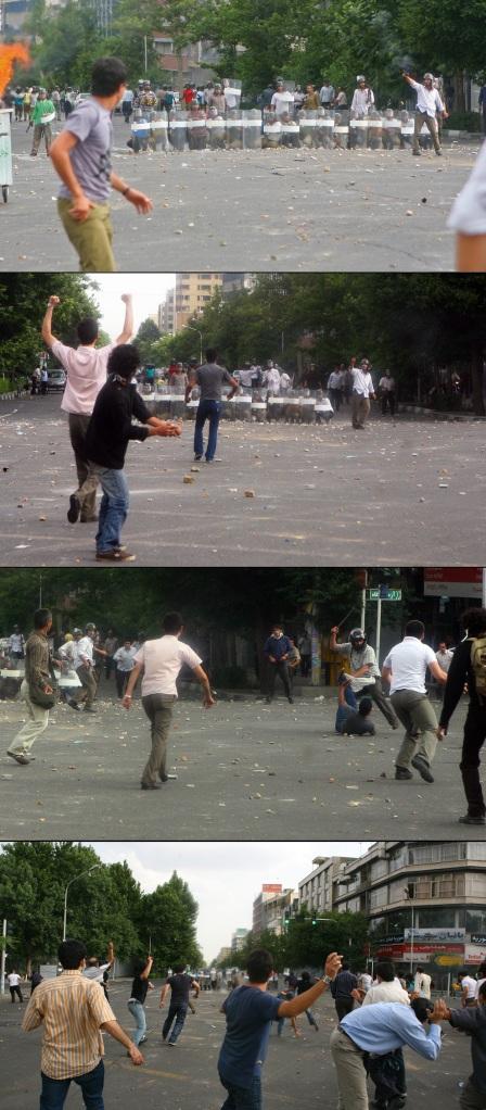پاسداران در حمله به مردم