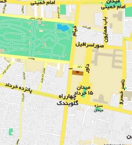 نقشه محل دادگاه فرمایشی