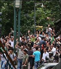 تظاهرات 14 مرداد میدان بهارستان